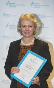 Julie Leask, Research Action Award winner