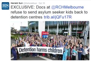 Refugees HS tweet