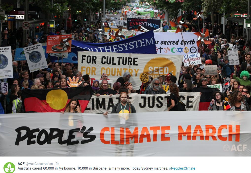 People's Climate Marchers call on world leaders to walk the talk in Paris