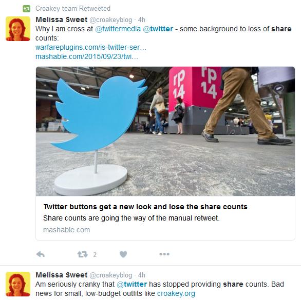 Twitter cranky