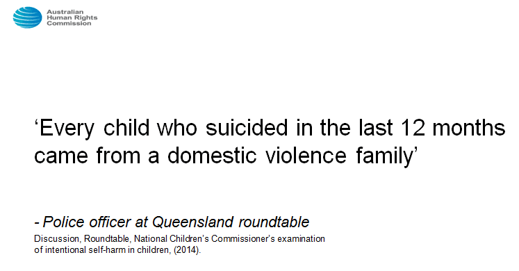 children slide suicide