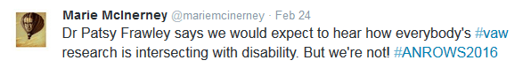 disability intersect not