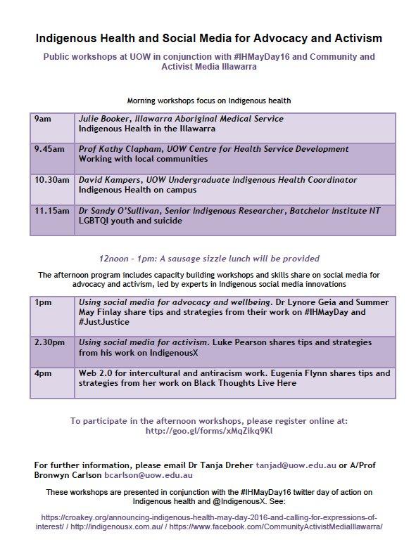 11 May Workshops IHMayDay16