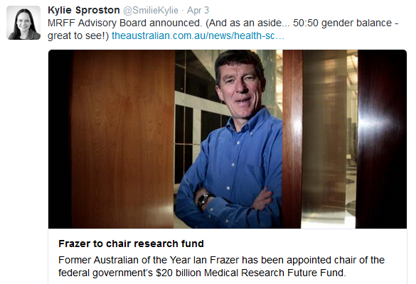 Where to in medical research? Ian Frazer heads advisory board for Medical Research Future Fund