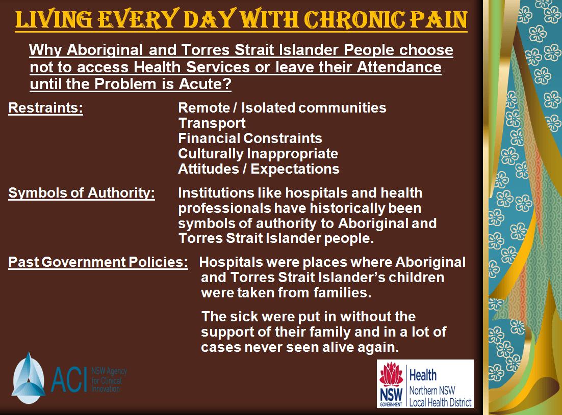 pain lack of access