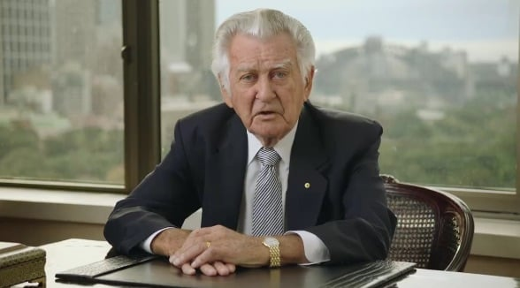 Former Prime Minister Bob Hawke features in new Labor election advertisement