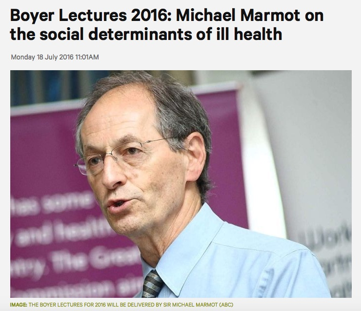 Sir Michael Marmot to deliver Boyer lectures - and other news on the social determinants of health