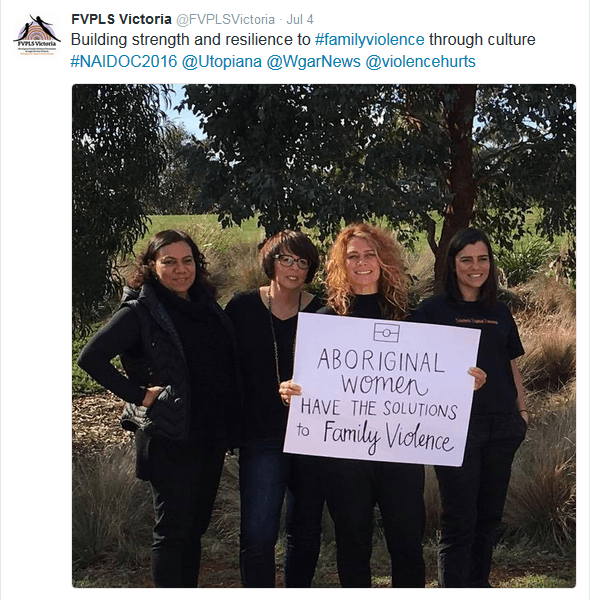 naidoc messages family violence