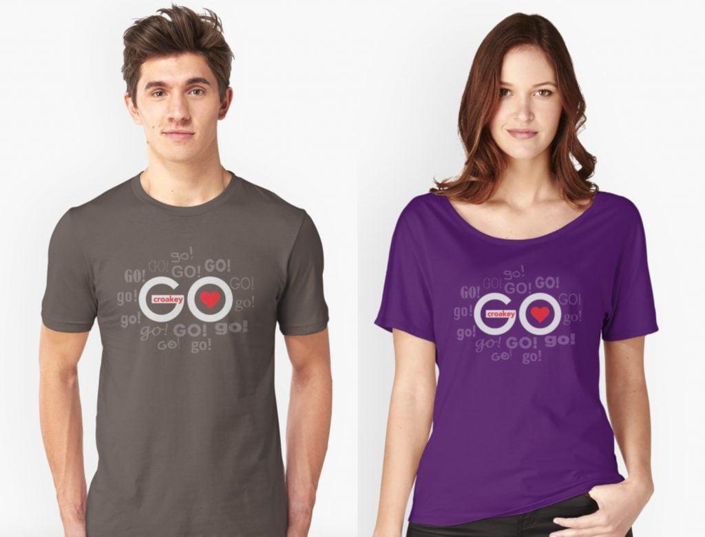 Croakey Go t-shirts
