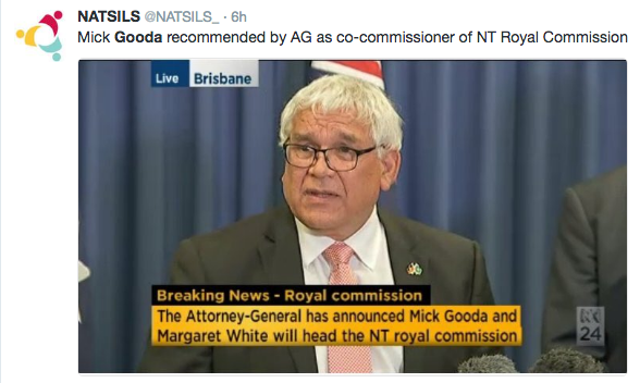 Indigenous groups welcome Gooda, White to lead NT Royal Commission