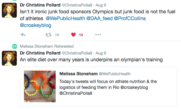 olympics atheltes diet