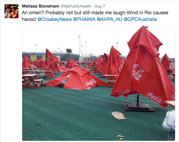 olympics coke umbrellas
