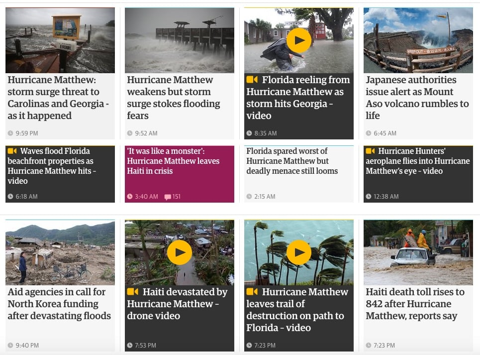 The Guardian's series on extreme weather events: a reminder of the health impacts of climate change
