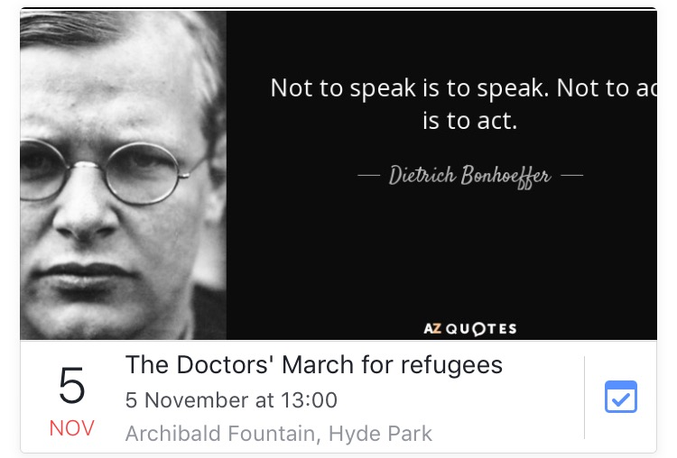 Doctors and supporters to march for ethics and common decency on October 30th and November 5th