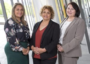 L-R: Dr Lisa Whop, Assoc Prof Gail Garvey, Dr Roxanne Bainbridge (Photo: Fiona Hamilton)
