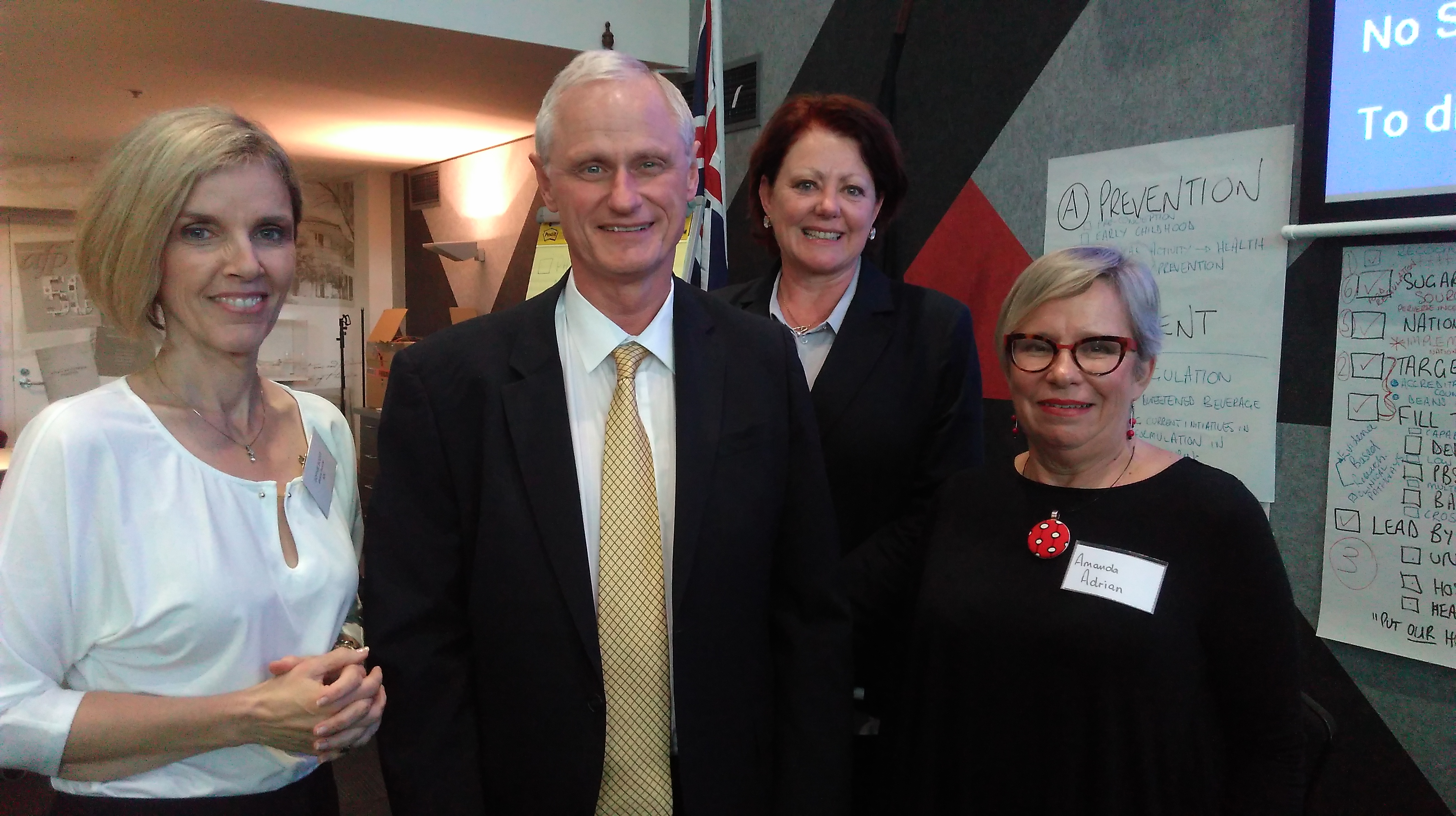 Sophie Scott, Professor Nick Talley, Angela Magarry and Amanda Adrian