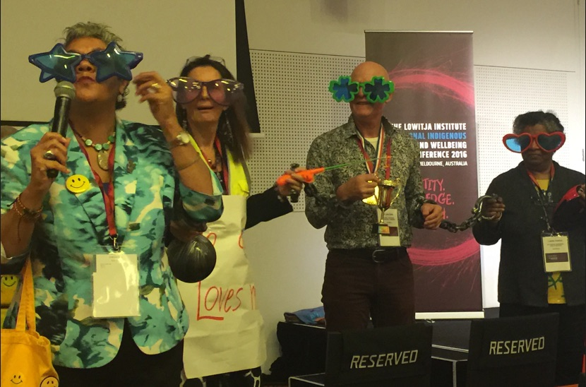Wendy Watego, of the STARS Institute of Learning & Leadership, conducted a powerful workshop using props and humour to challenge participants to think and act differently.