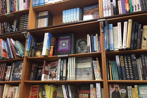 On the shelves at Gleebooks. Photo credit: Dr Megan Williams