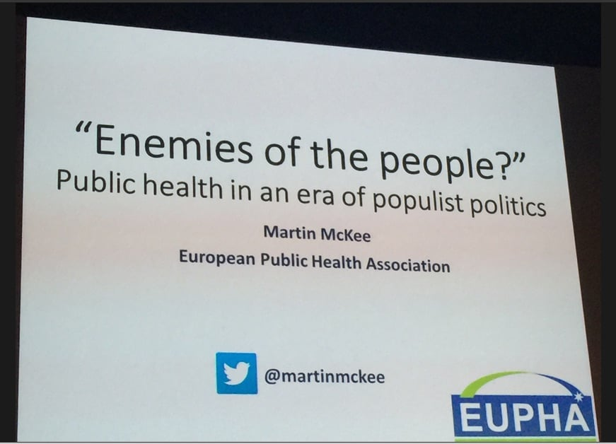 On political disruption, and the challenges for public health