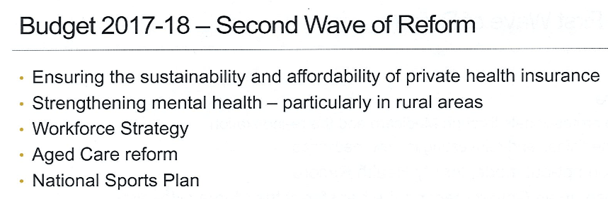 Budget second wave