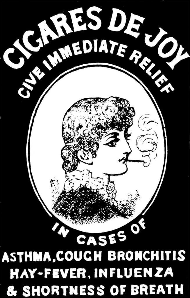 Cigares de Joy tobacco ad 1880s