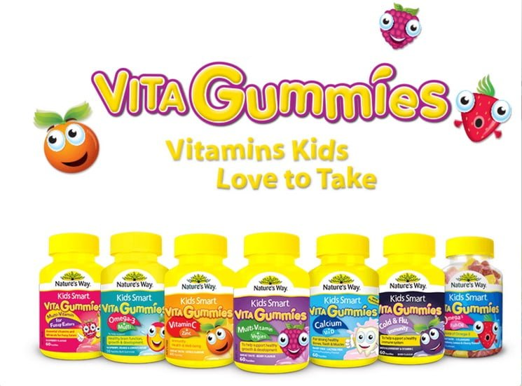 One brand of vitamin gummies for kids. Screenshot from kidsmart.com.au