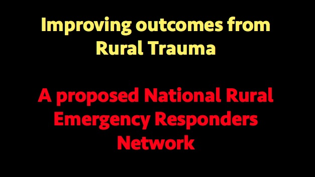 Shouldn't rural doctors be on the call sheet in serious local accidents & emergencies?
