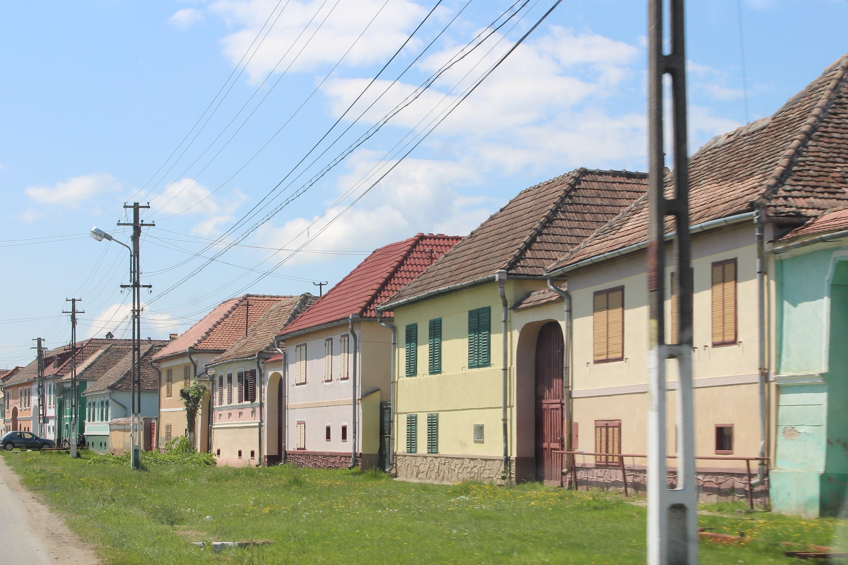 Colourful housing was common in small towns in Transylvania