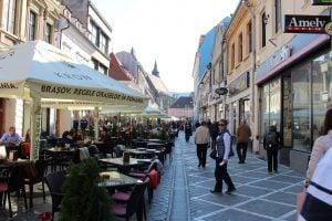 The main street of Brașov