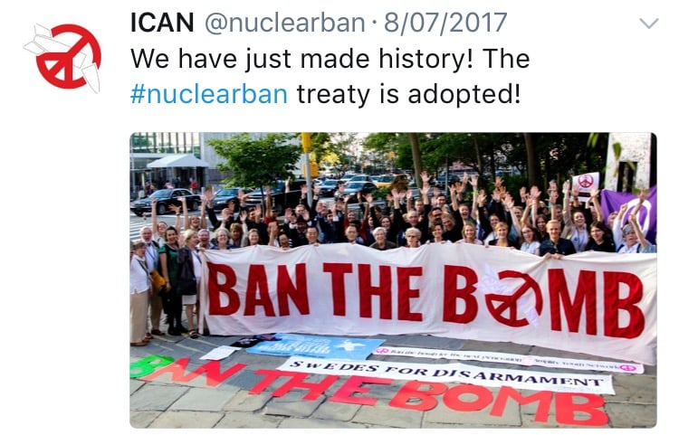 Nuclear Weapons banned at last. Now let's put Australia on the right side of history