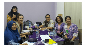 First 1000 days staffers working with collaborators in Indonesia
