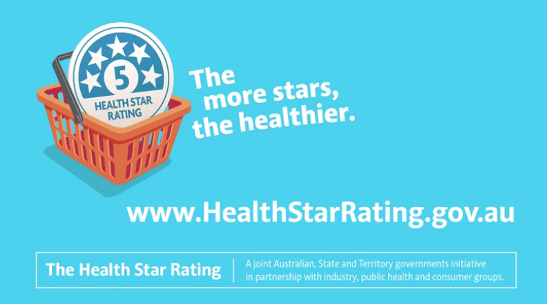 How many stars does Australia's  Health Star Rating earn for promoting healthy eating?