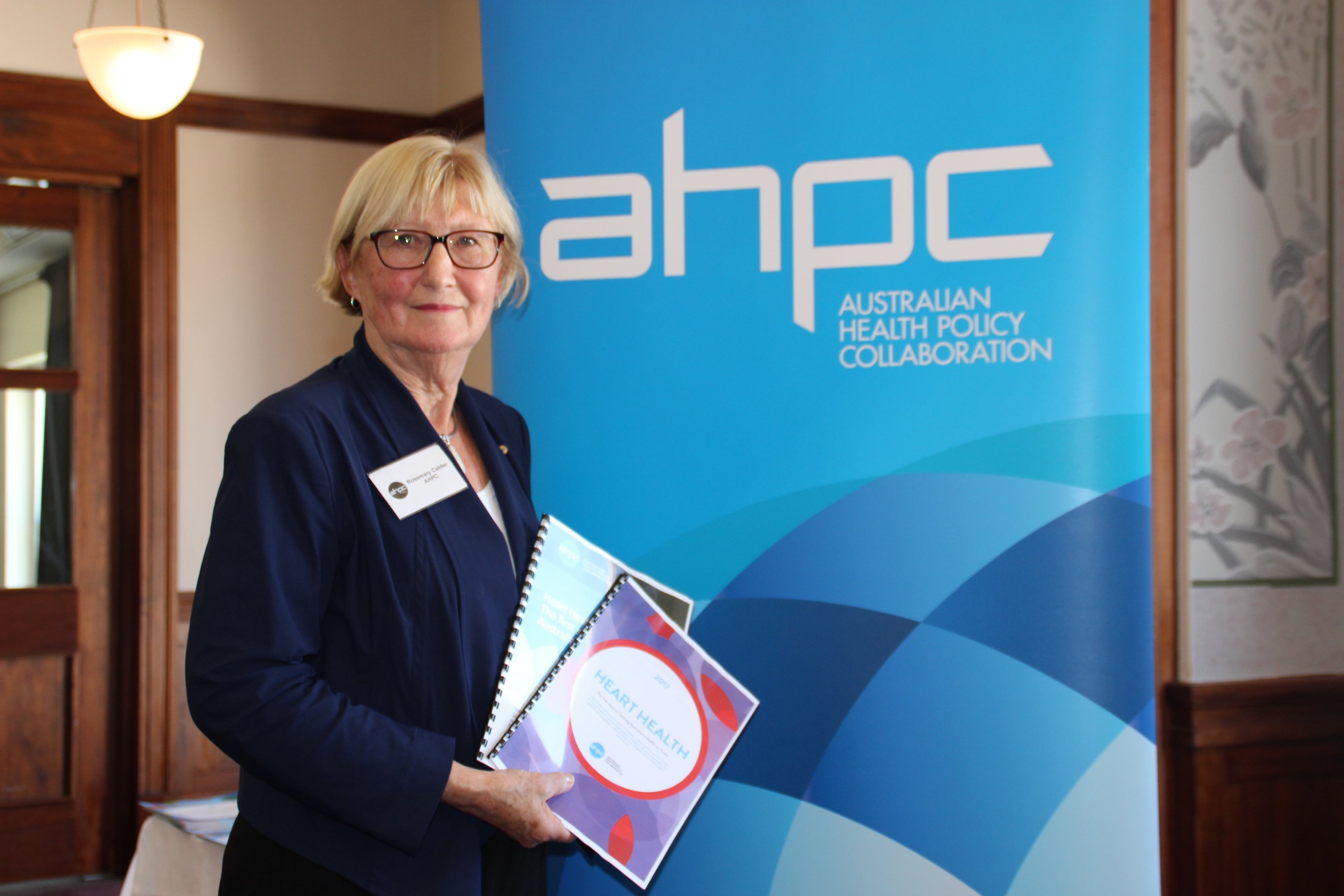 AHPC director, Professor Rosemary Calder, at the launch of Heart Health