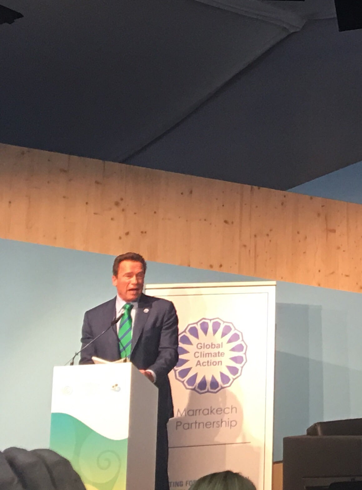 Arnold Schwarzenegger at WHO event