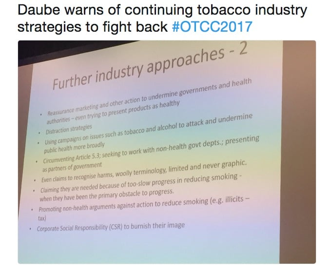 How the tobacco industry is infiltrating policy processes and