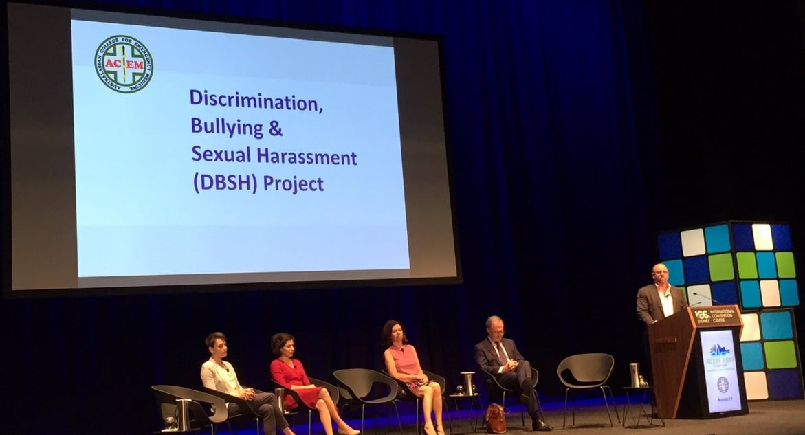 In the hospital system, efforts to address bullying and discrimination must start at the top - #ACEM17