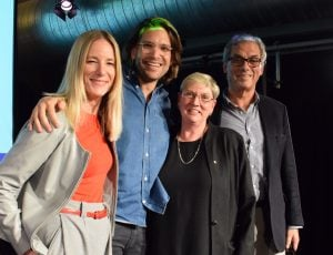 Left to right: Jerril Rechter, Sandro Demaio, Lyn Roberts, Rob Moodie