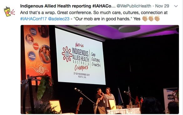 Showcasing the diversity of the work of Indigenous allied health professionals