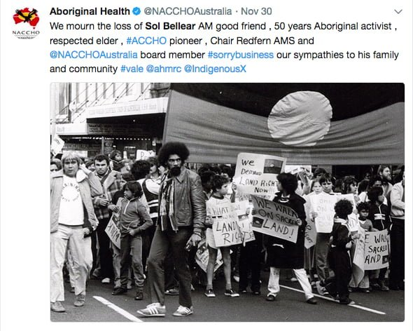 Sol Bellear: tributes to an Aboriginal rights icon