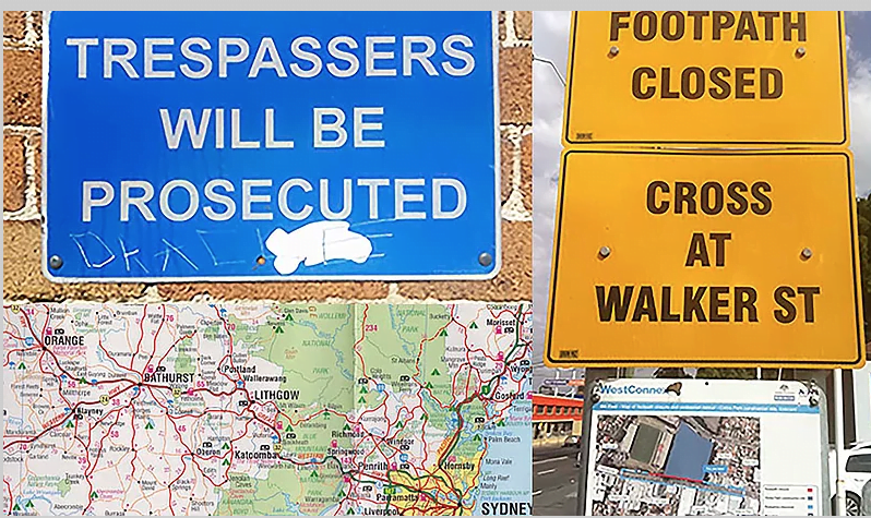 No Trespassing: the art and politics of walking from Sydney to Bathurst, NSW