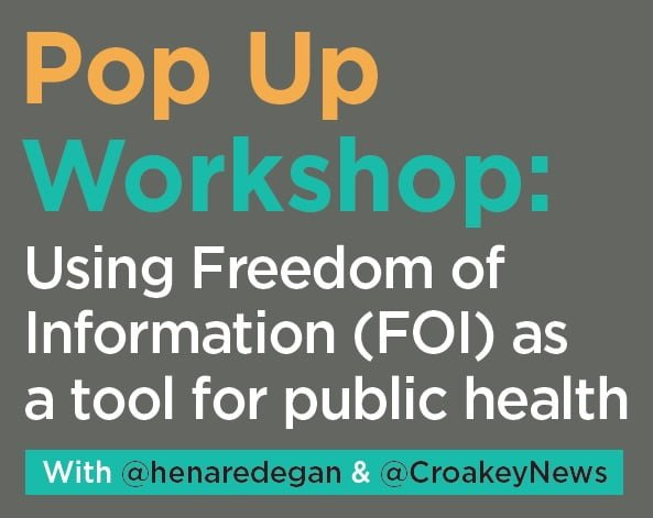 It's a #CroakeyPopUp workshop - learn about using FOI for public good