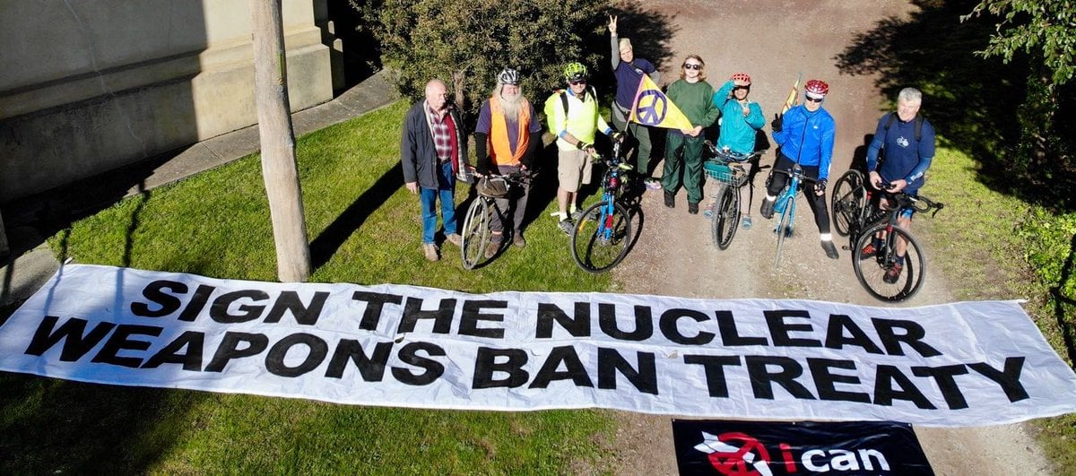 On the road (for 900 kms) to a nuclear ban treaty: ICAN urges Australia to sign up