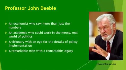 Vale Professor John Deeble — 'Father of Medicare'