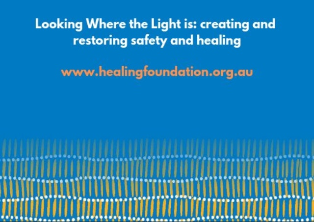 Looking Where the Light is: healing the scars of institutional sexual abuse will take courage and committment