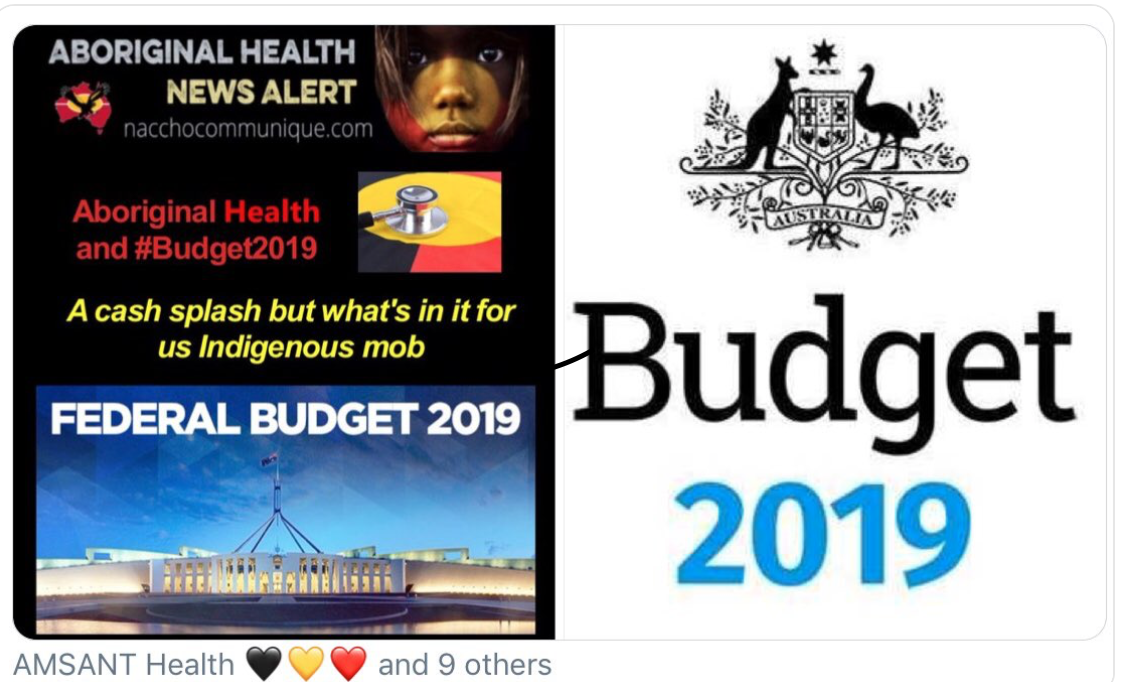 Budget 2019/20 - Responses from Aboriginal and Torres Strait Islander groups