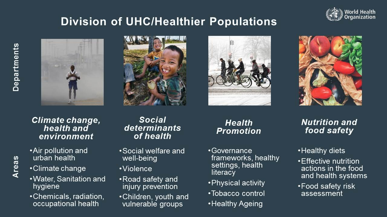 Climate change, social determinants focus for WHO's new Healthier Populations pillar