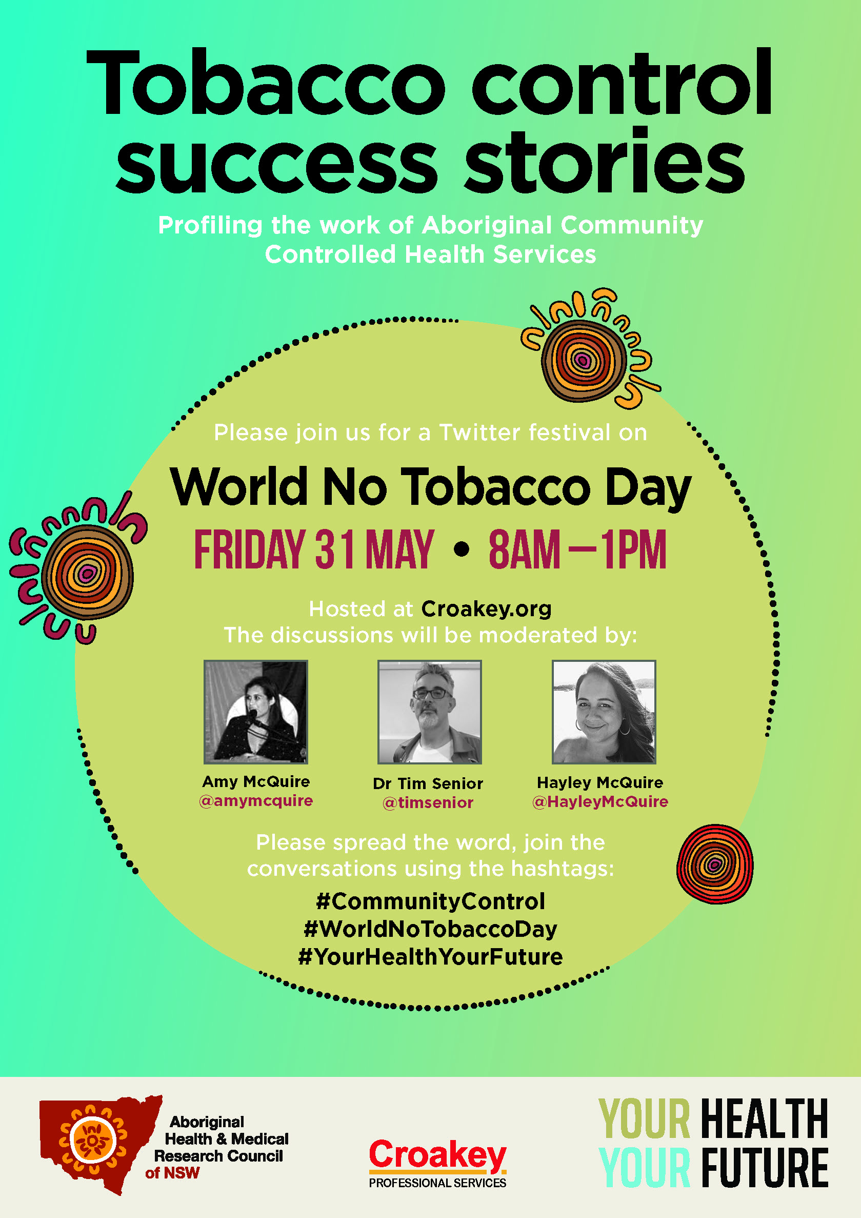 Announcing program for World No Tobacco Day Twitter Festival on 31 May - #CommunityControl