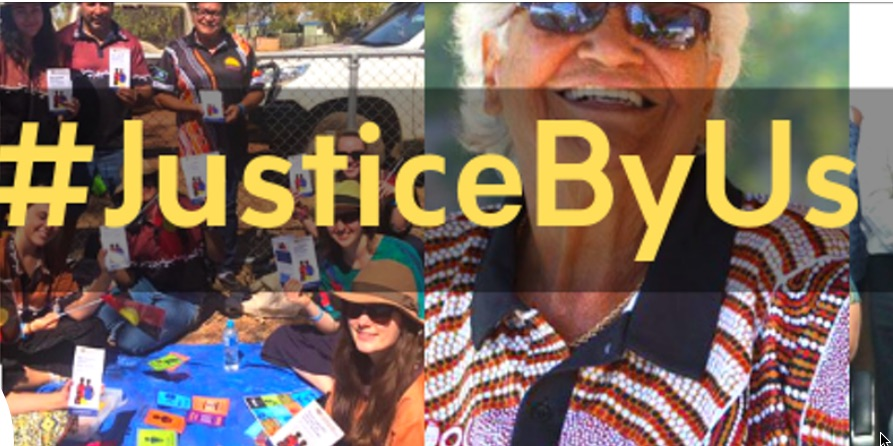 Calling for support for the #JusticeByUs campaign