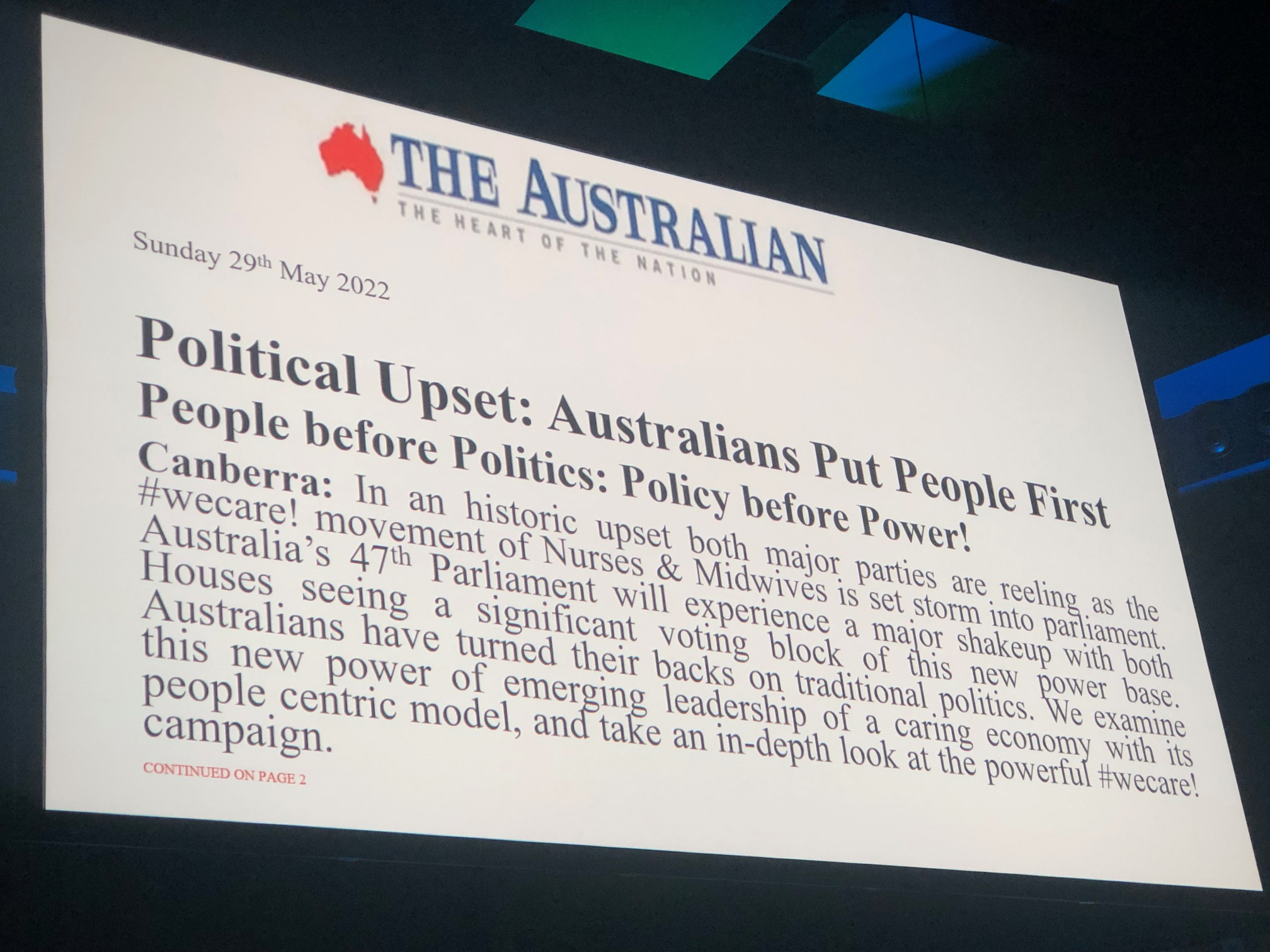 Body politic: a clarion call for nursing at #NNF2019