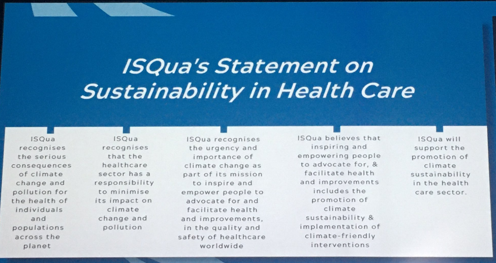 Sustainable health systems need climate sustainability